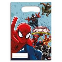 6 Partybeutel Spiderman
