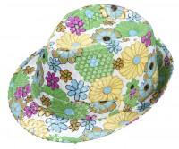Fedorahut mit Blumendruck