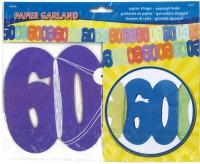 Papiergirlande 60 Jahre