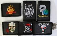 Geldbörse mit Flamme oder Totenkopf