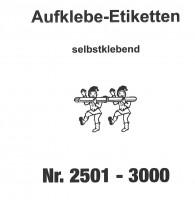 Aufklebenummern für Gabentisch 2501-3000