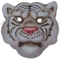 Fasnacht Maske Tiger weiss für Kinder