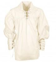 Beiges Mittelalter-Hemd XL