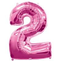 Silberfolienballon 2 pink