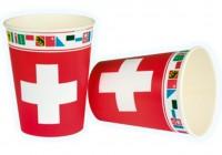 Schweizer Becher mit Kantonen
