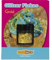 Goldene Glitzerflakes