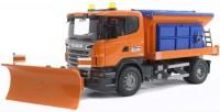 BRUDER Scania R-Serie LKW Winterdienst mit Räumschild