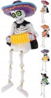 Skelett mit Instrument & Sombrero