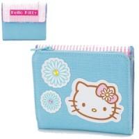 Hello Kitty Portemonnaie Geldbörse blau Stoff