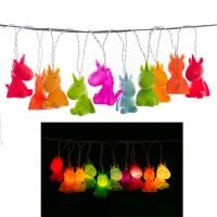 Noname Lichterkette mit 10 Einhörnern