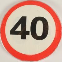 Servietten Verkehrsschild 40 Jahre