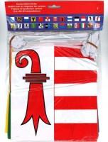 Kantonsfahnenkette mit allen 26 Kantonen