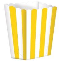 5 Popcorn Schachteln Gelb