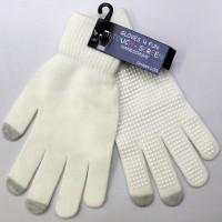Touch-Screen Handschuhe weiss L/XL
