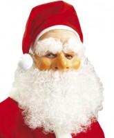 Nikolausmaske mit Mütze und Bart