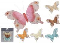Deko Schmetterling mit Clip