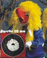 Schwarz-weisse Waggis Rosette