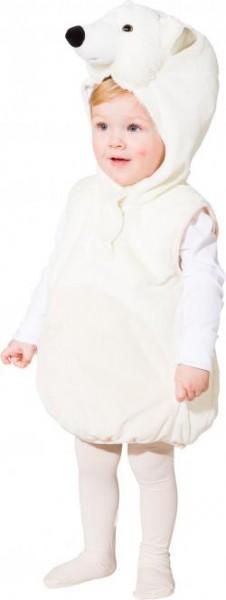 Kostüm kleiner Eisbär Gr.104cm ärmelloses Oberteil mit Kapuze