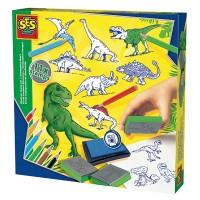 SES SES Stempelset Dinosaurier