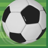 UNIQUE Servietten Fussball 16 Stk