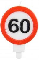 Kerze 60 Jahre Verkehrsschild