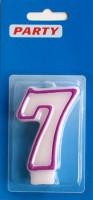 Zahlenkerzen weiss Zahl-7