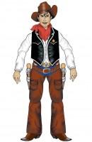 Wanddeko Cowboy