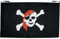 Piratenfahne mit Totenkopf