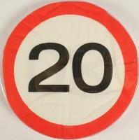 Servietten Verkehrsschild 20 Jahre