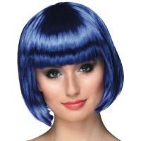 Fasnacht Perücke Cabaret blau