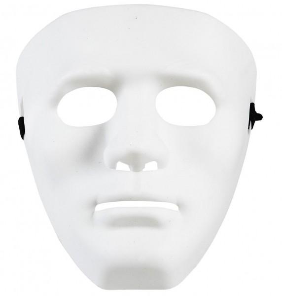 Weisse Anonymus Gesichtsmaske