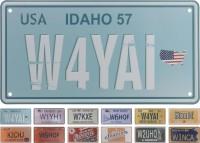 Schilder Autokennzeichen USA