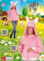 Kostümjacke Schwein L/XL