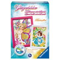 RAVENSBURGER Glitzerbilder Butterflies