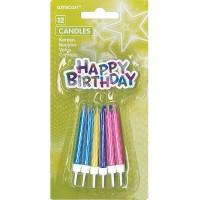 Amscan 12 Geburtstagskerzen