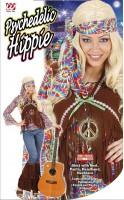 Farbenfrohes Hippiekostüm XL