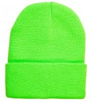 Neongrüne Mütze