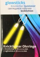 Gelbe Ohrring - Knicklichter