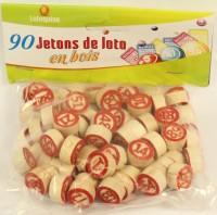 Lotto Zieh-Nummern Holz 90 Stück