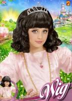 Schwarze Prinzessin-Perücke
