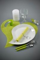 Herzförmiges Tischset fuchsia