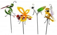 Bunte Insekten Gartenstecker