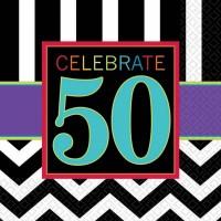 Amscan 16 Servietten 50. Geburtstag