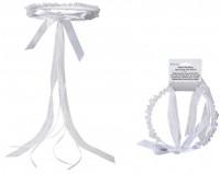Weisser Hochzeits-Haarreif