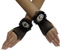 Schwarze Steampunk Handschuhe