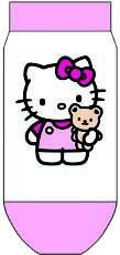 Hello Kitty Socken Kindersocken ass. Inliner Gr.23-26