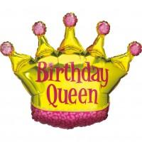 Silberfolienballon Birthday Queen