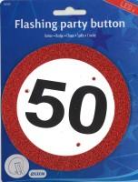 LED Party-Button Verkehrsschild 50 Jahre