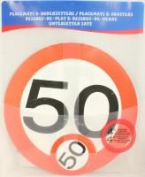 Verkehrsschild Untersetzer - Set 50 Jahre