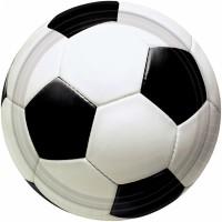 8 Kartonteller 23cm Fussball